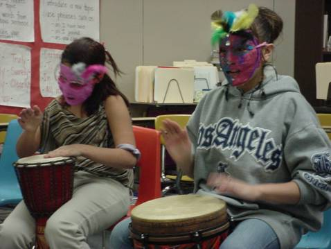 masks and drums